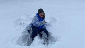 Me playing in the snow (We just don't get snow like this in Arkansas)